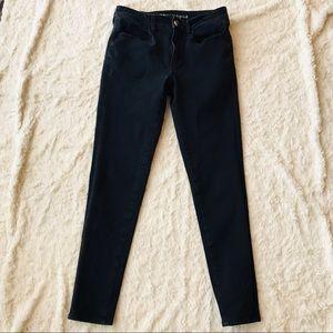American Eagle Super Stretch Skinny Jeans Black 6